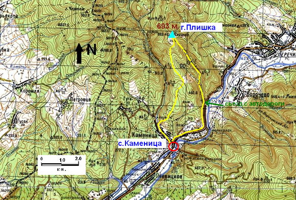 Каменица-Плишка (карта)