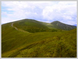 Часть маршрута на хребте Красна.
