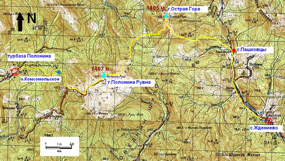 Карта Лумшоры - Ждениево