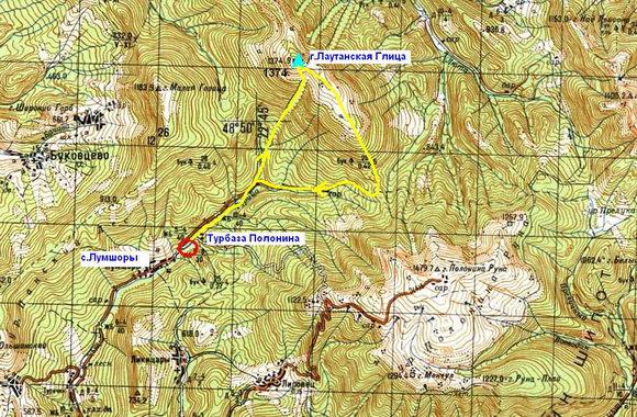 Карта Лумшоры-Лютянская Голица