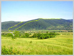 Часть маршрута на Светильник из с. Ворочево