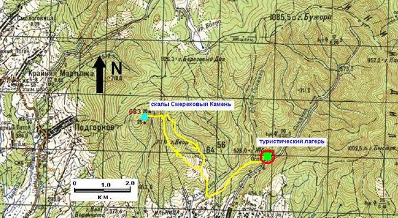 Карта Осий - Смерековый камень