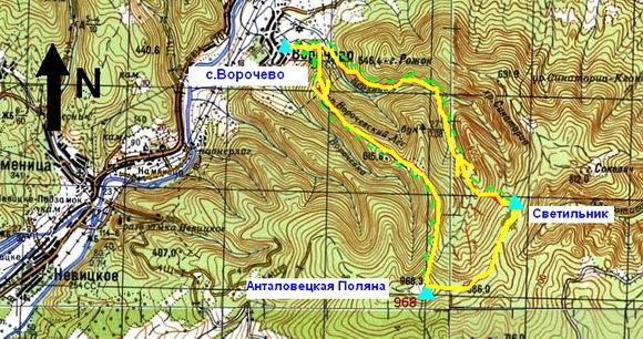 Карта Ворочево - Светильник